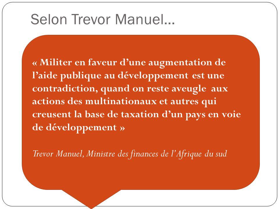 Selon Trevor Manuel...