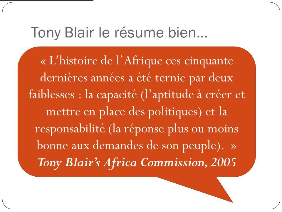 Tony Blair le résume bien...