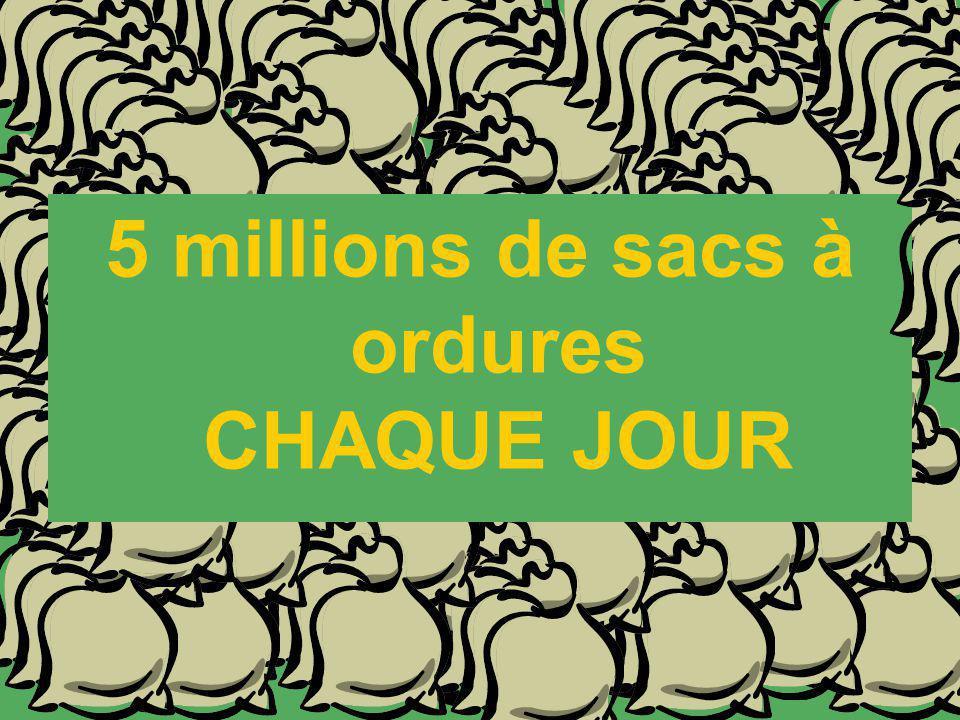5 millions de sacs à ordures CHAQUE JOUR