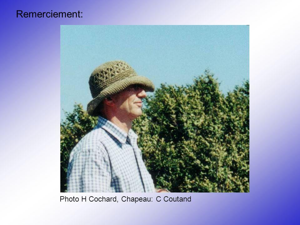 Remerciement: Photo H Cochard, Chapeau: C Coutand
