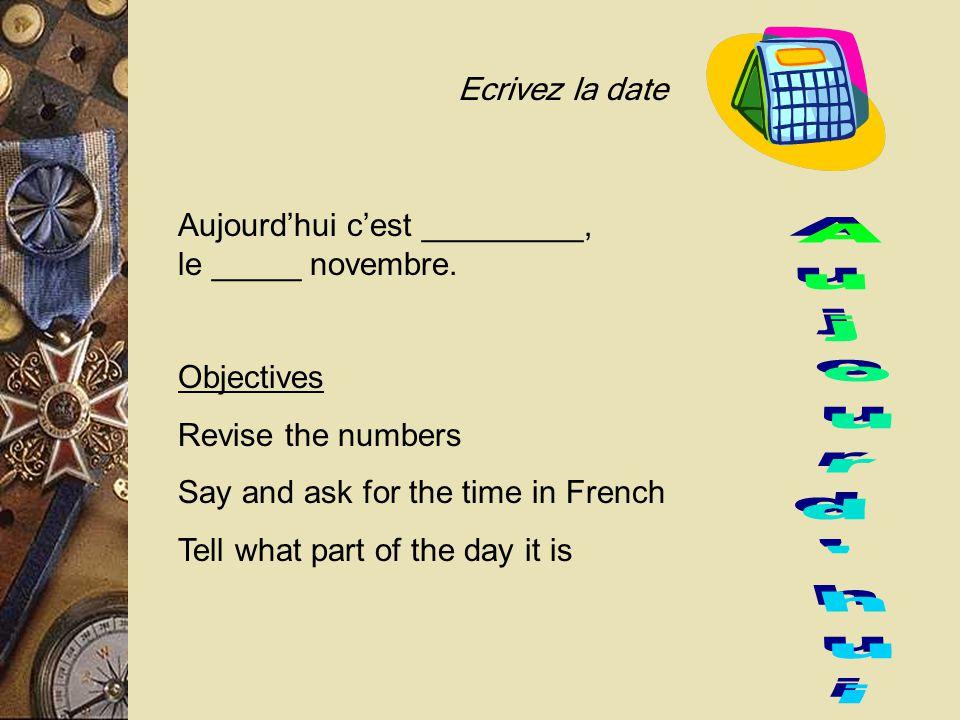 Il est onze heures moins le quart Notice you use the NEXT hour! 10:45 = Quarter 'til eleven