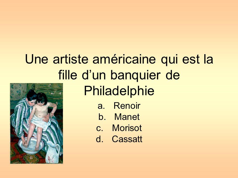 Elle a étudié sous Rodin, le plus grand sculpteur de l'époque A.Claudel B.Morisot C.Cassatt D.Degas