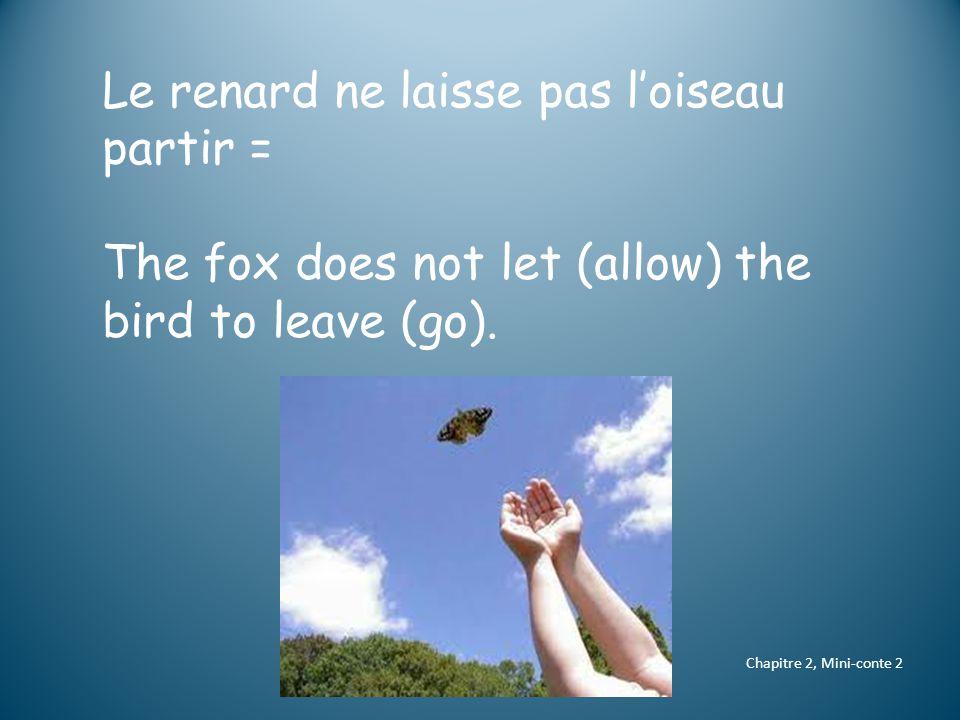 il / elle s'envole = he/she/it flies away il / elle flotte dans les airs = he/she/it floats in the air