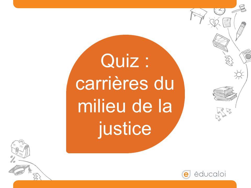 Quiz : carrières du milieu de la justice