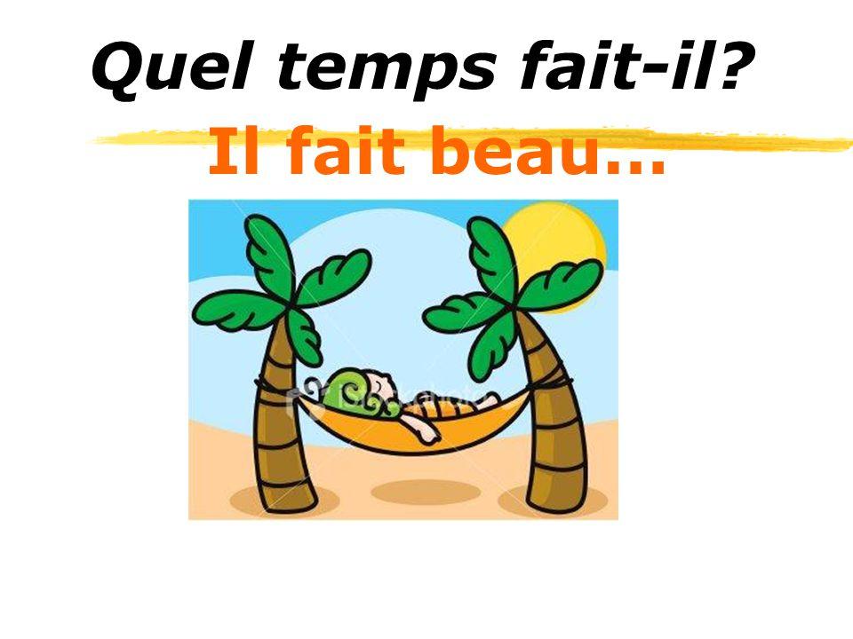 Il fait beau… Quel temps fait-il?