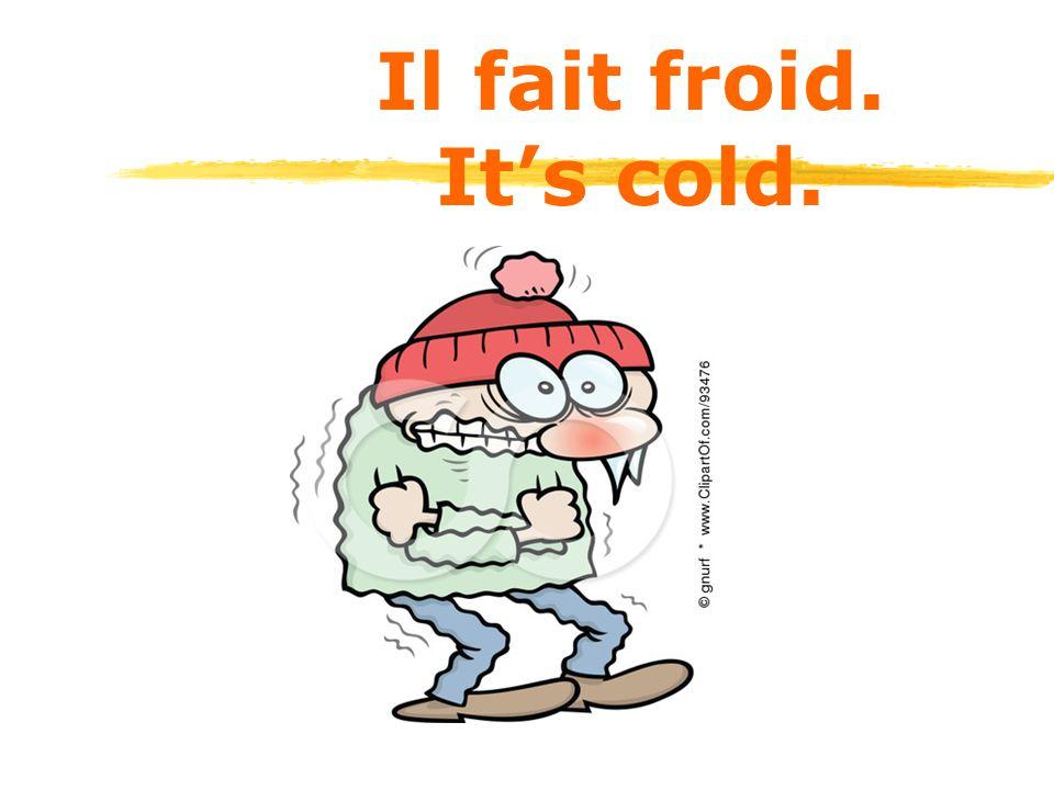 Il fait froid. It's cold.