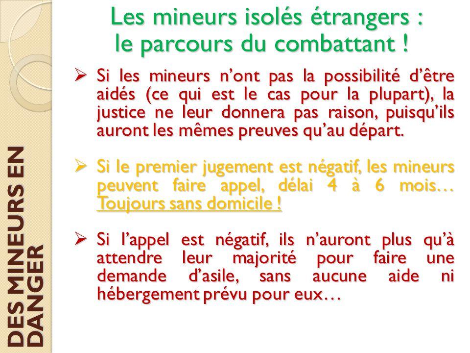  Si les mineurs n'ont pas la possibilité d'être aidés (ce qui est le cas pour la plupart), la justice ne leur donnera pas raison, puisqu'ils auront l