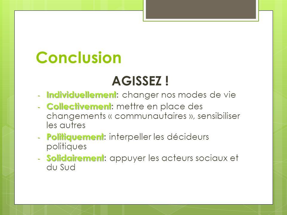Conclusion AGISSEZ .