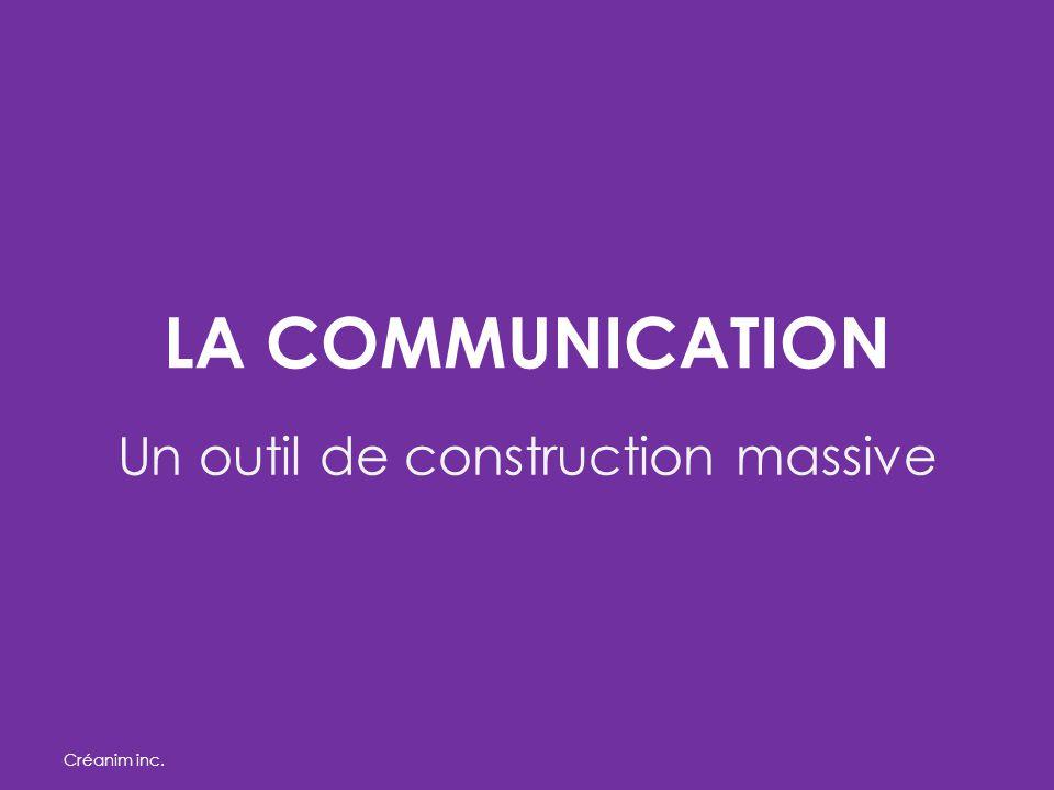 LA COMMUNICATION Un outil de construction massive Créanim inc.