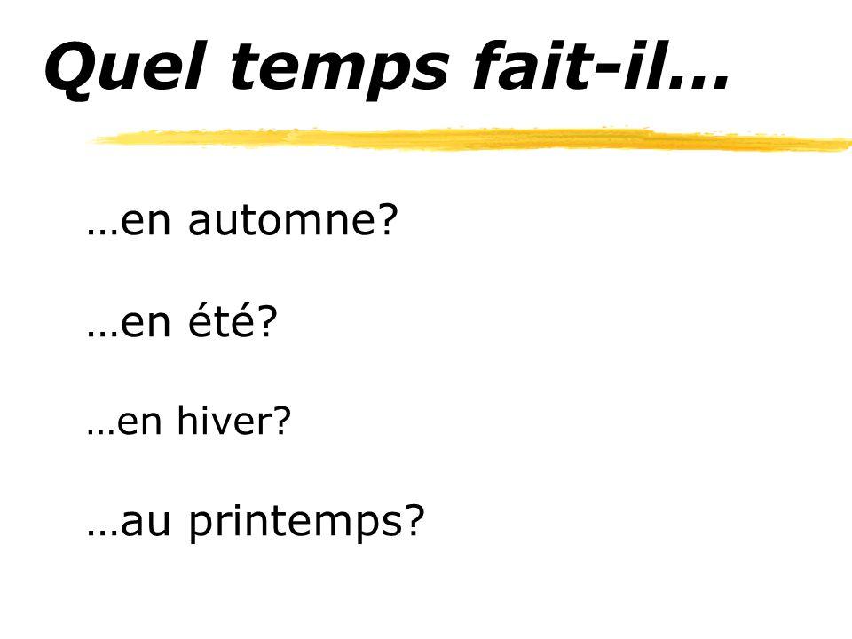 Quel temps fait-il… …en automne? …en été? …en hiver? …au printemps?