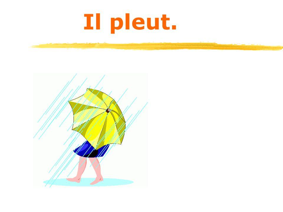 Il pleut.