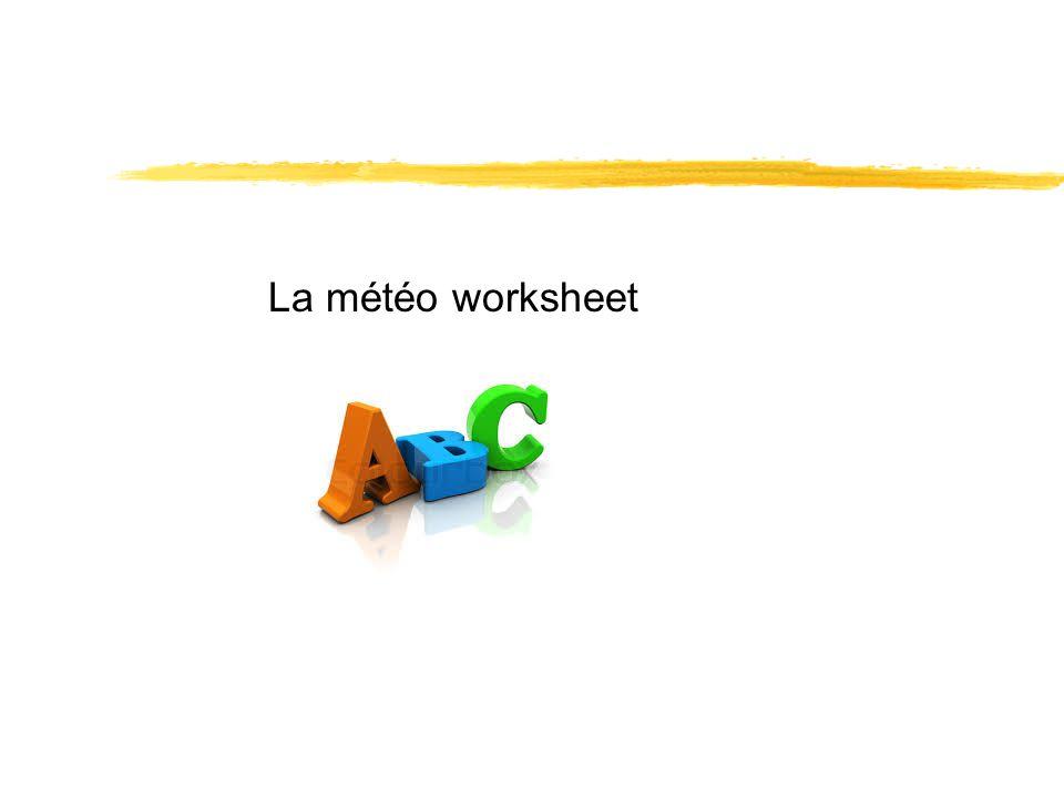 La météo worksheet