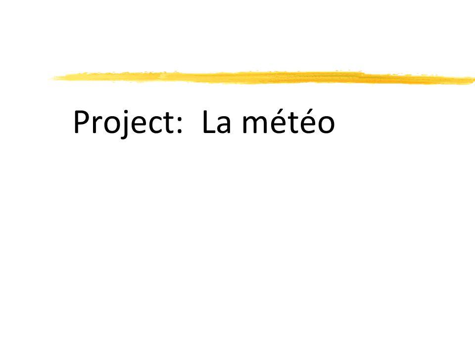 Project: La météo