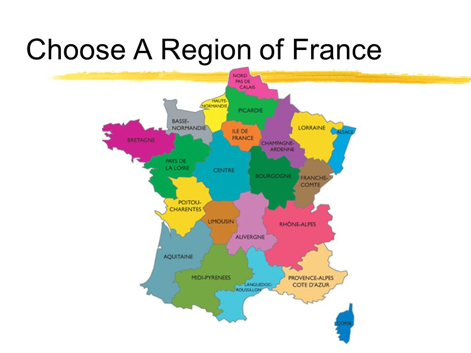 Choose A Region of France