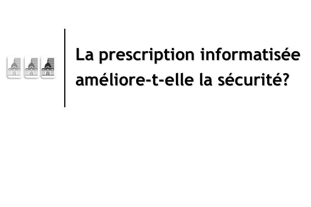 La prescription informatisée améliore-t-elle la sécurité