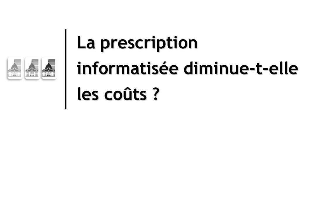 La prescription informatisée diminue-t-elle les coûts