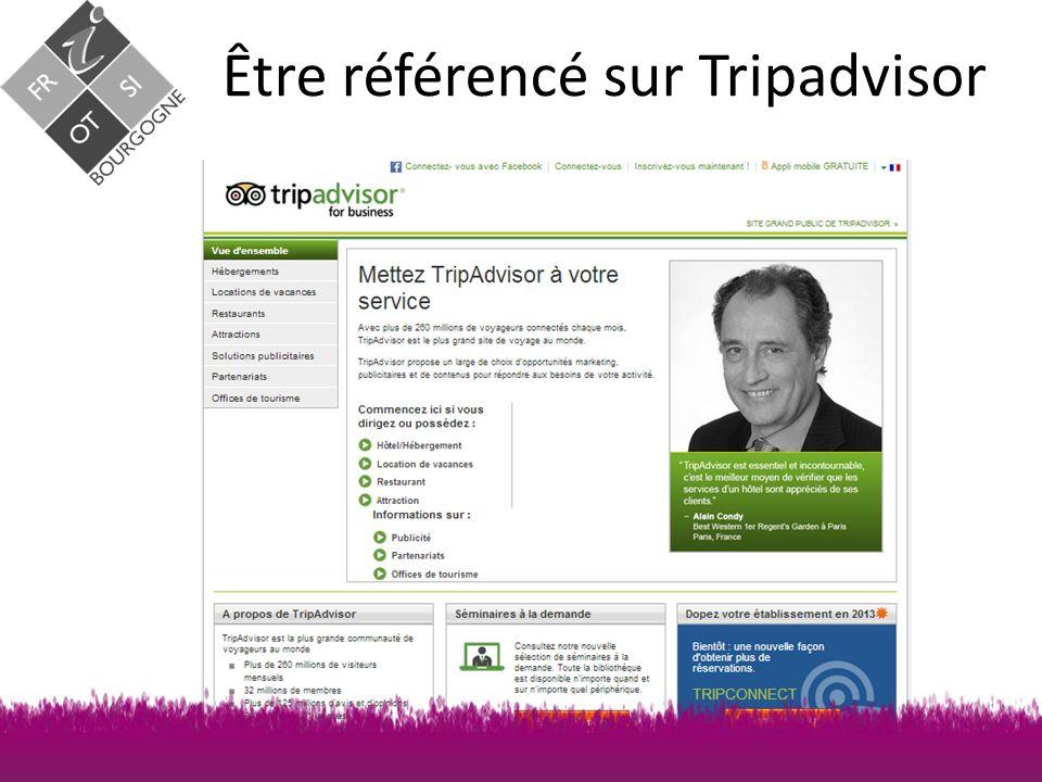 Être référencé sur Tripadvisor