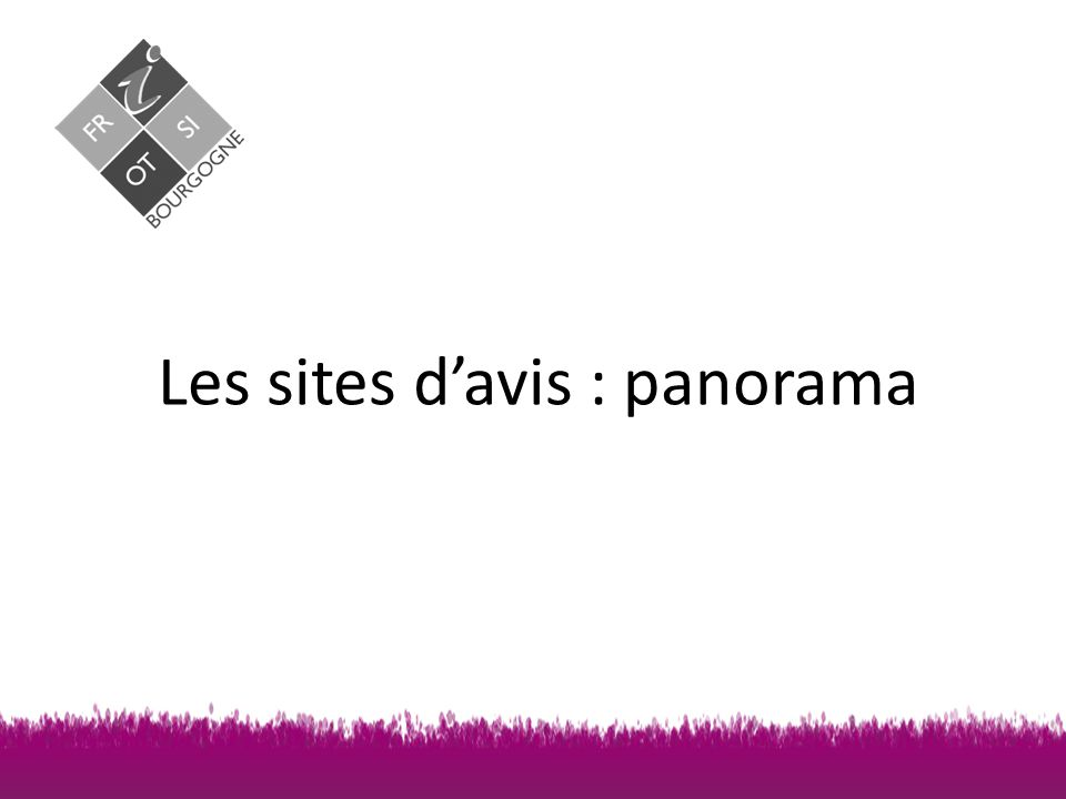 Les sites d'avis : panorama