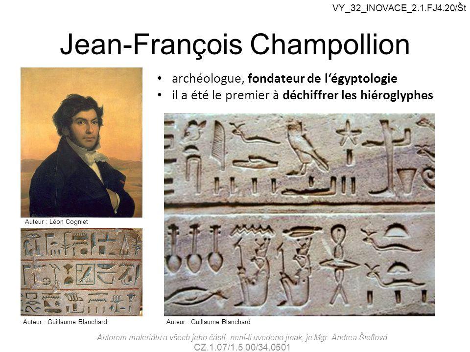 Jean-François Champollion archéologue, fondateur de l'égyptologie il a été le premier à déchiffrer les hiéroglyphes Auteur : Léon Cogniet Auteur : Gui