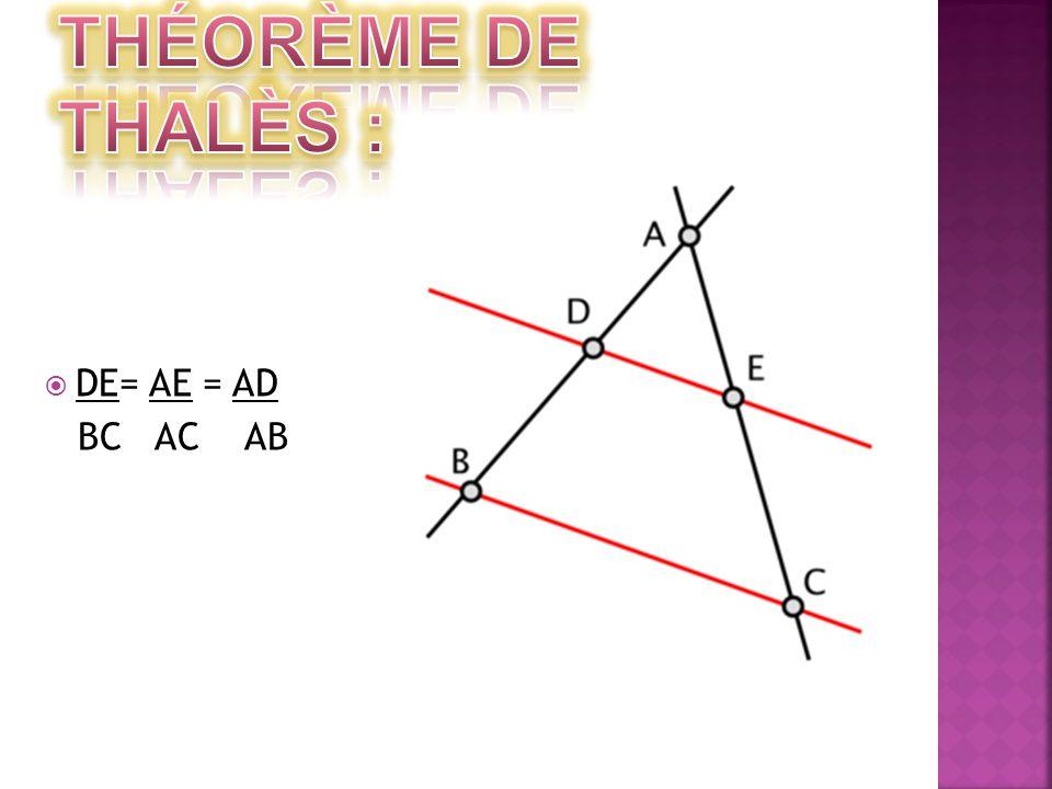  DE= AE = AD BC AC AB