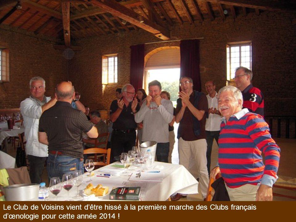 Le Club de Voisins vient d'être hissé à la première marche des Clubs français d'œnologie pour cette année 2014 !
