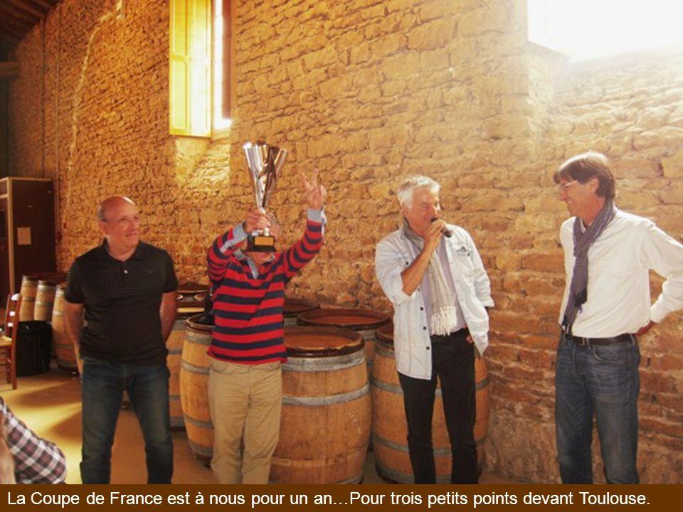 La Coupe de France est à nous pour un an…Pour trois petits points devant Toulouse.