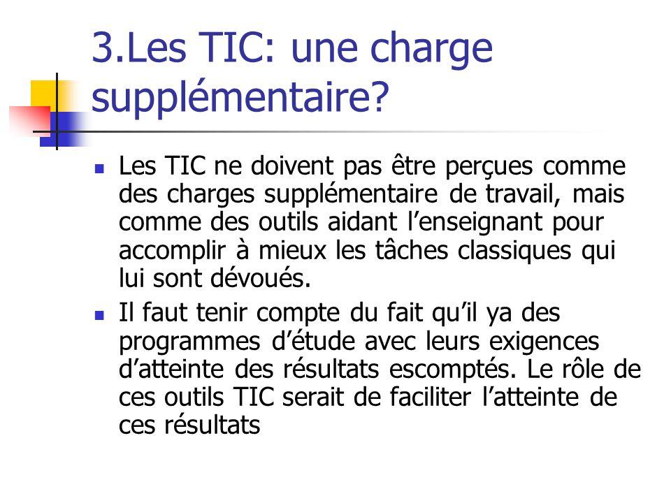3.Les TIC: une charge supplémentaire.