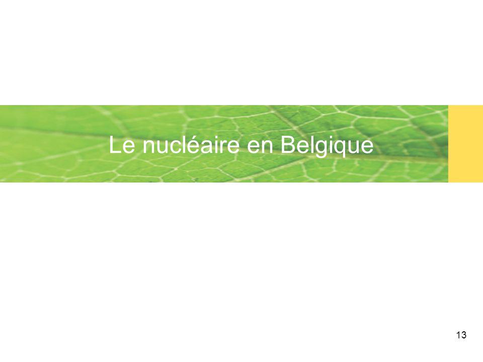 13 Le nucléaire en Belgique