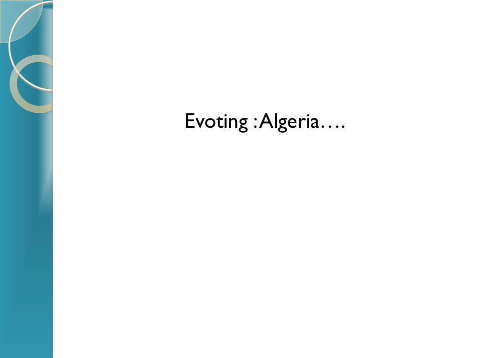 Evoting : Algeria….