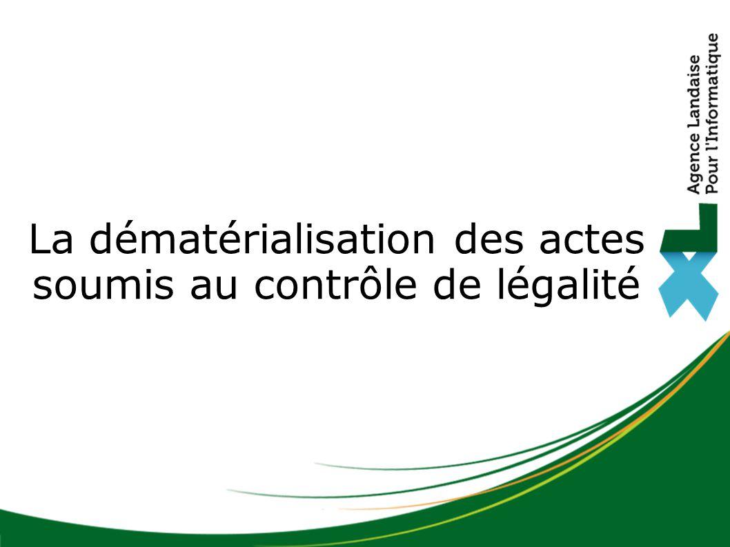 Histoire de la dématérialisation des marchés publics : dates importantes La dématérialisation des actes soumis au contrôle de légalité