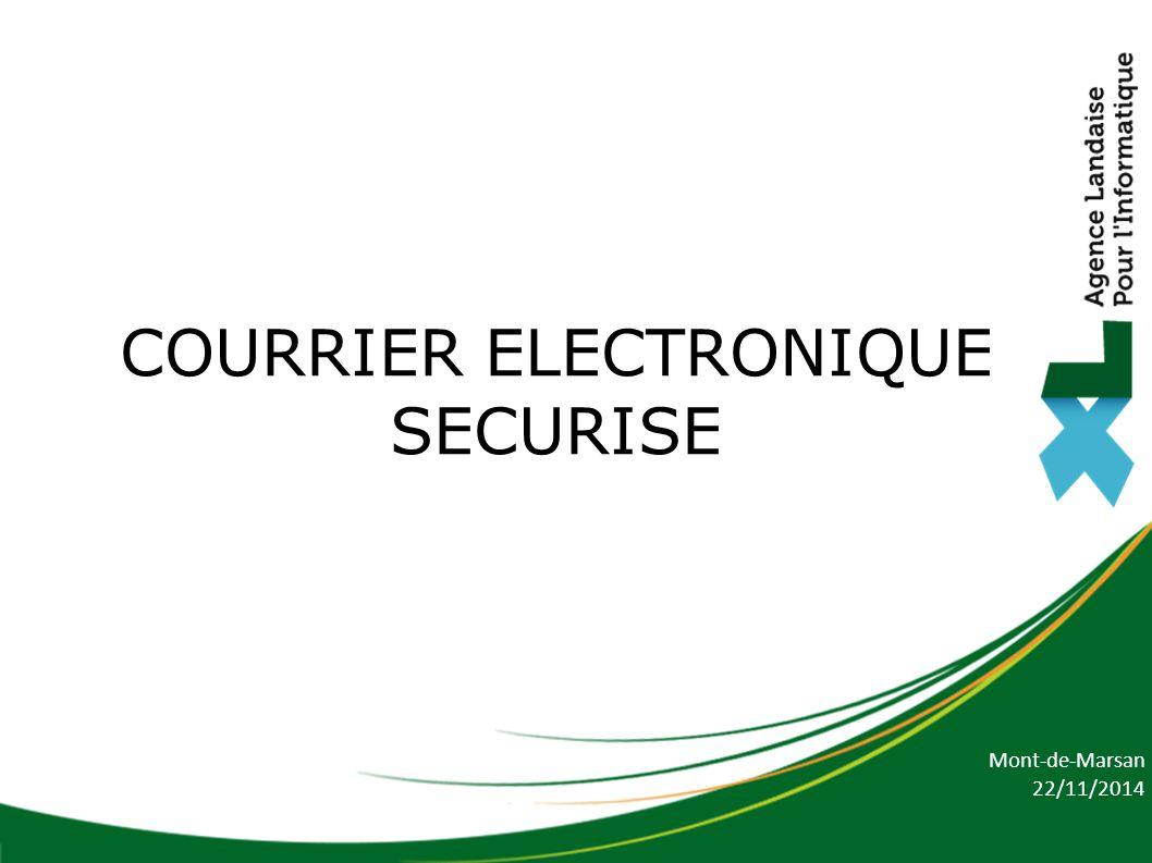 Mont-de-Marsan 22/11/2014 COURRIER ELECTRONIQUE SECURISE