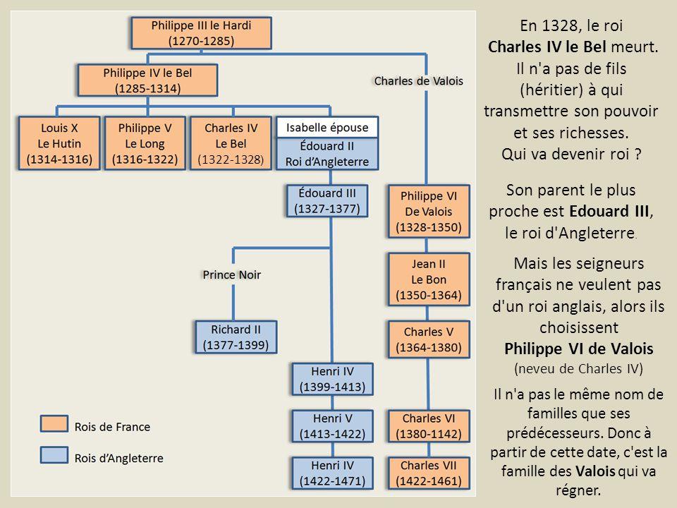 Le roi d Angleterre Édouard III possède en France un territoire : la Guyenne.