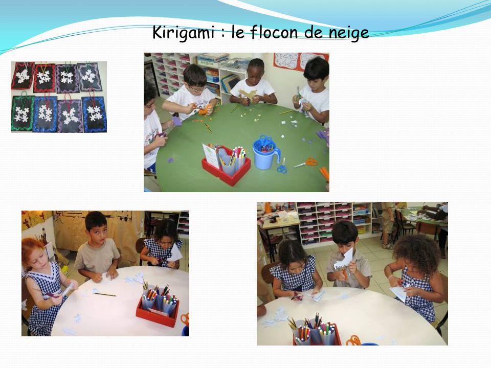 Kirigami : le flocon de neige