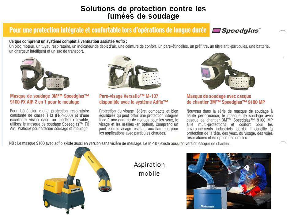 Solutions de protection contre les fumées de soudage Aspiration mobile