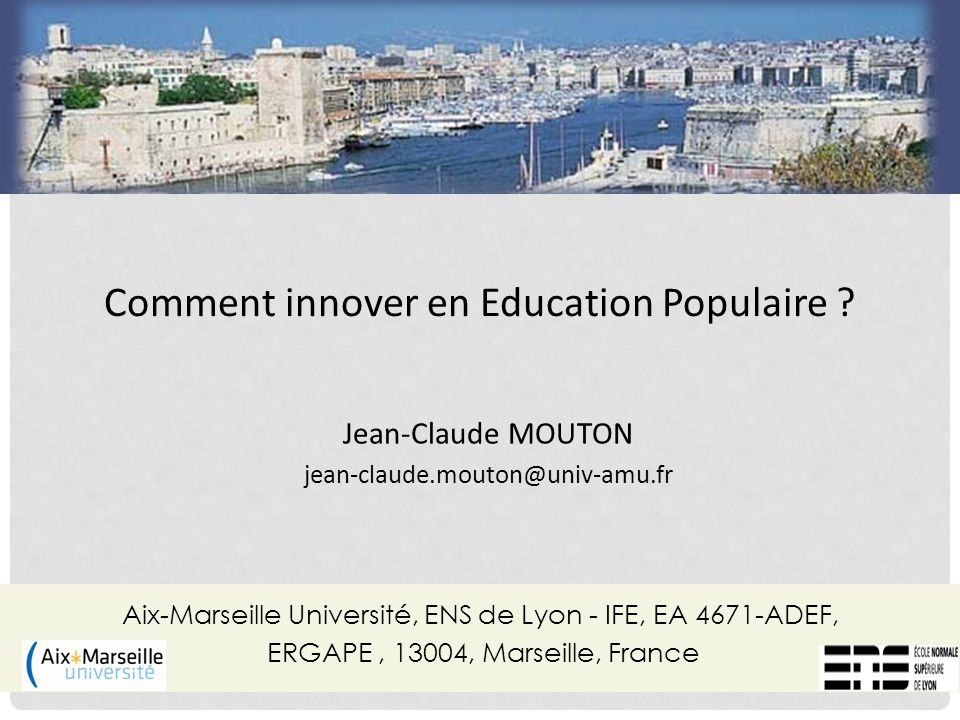 Comment innover en Education Populaire .