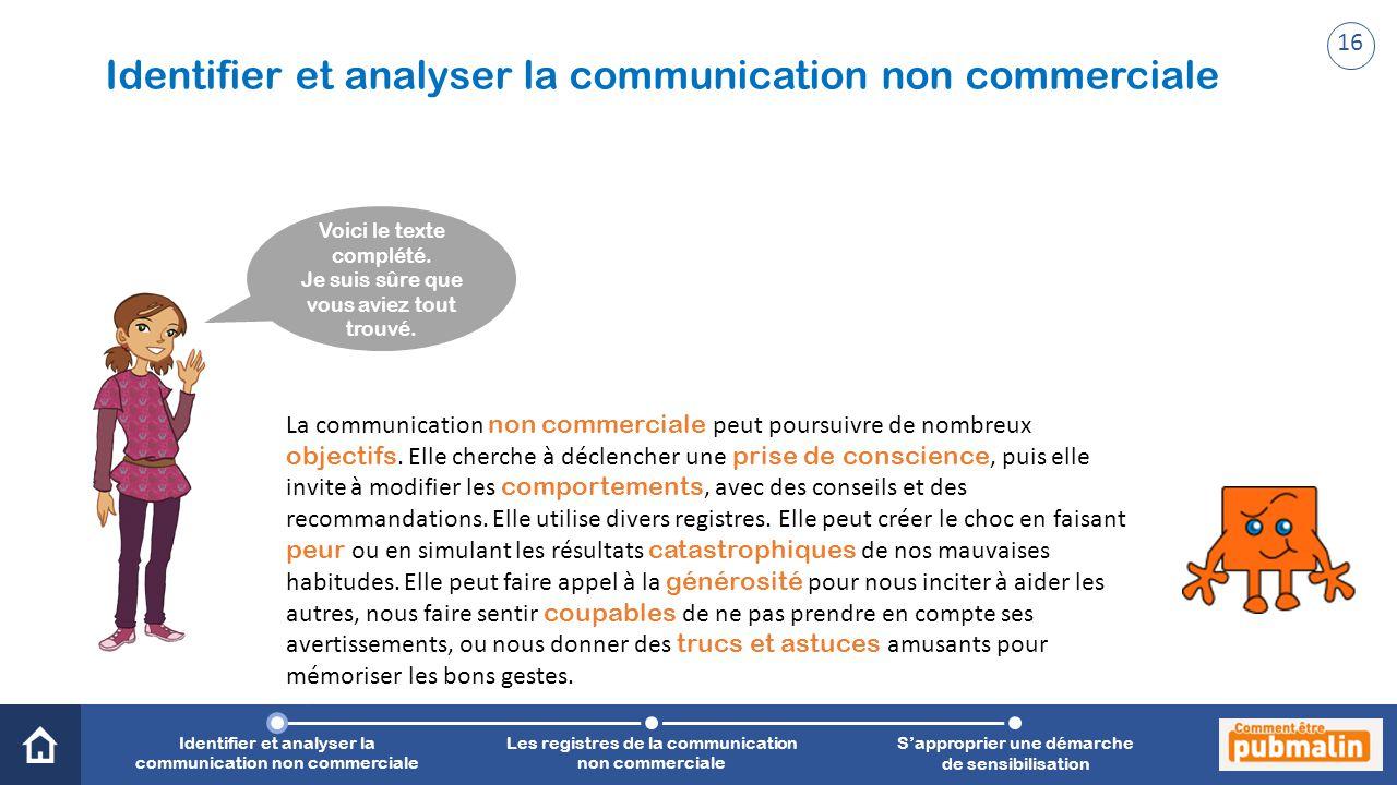 Trimestre 2 - Sensibilisation, prévention, citoyenneté : une communication engagée Voici le texte complété.