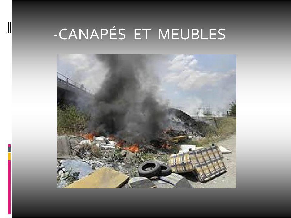 -CANAPÉS ET MEUBLES