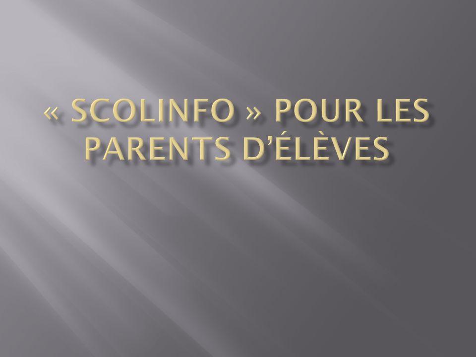 Taper « Scolinfo » dans le moteur de recherche