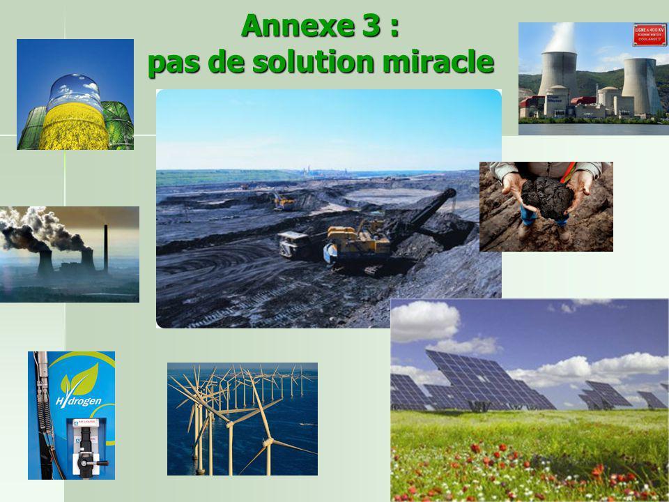 Annexe 3 : pas de solution miracle