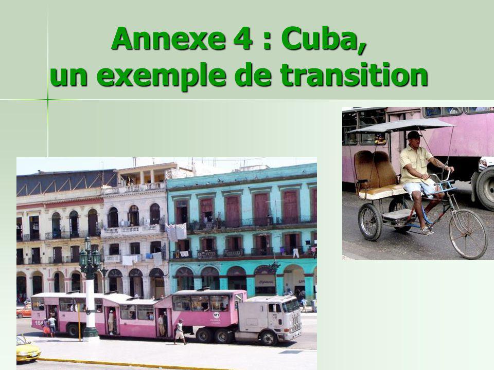 Annexe 4 : Cuba, un exemple de transition