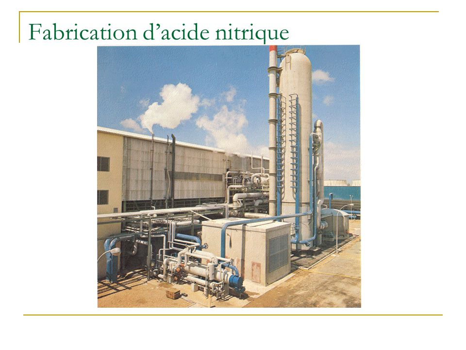 Fabrication d'acide nitrique