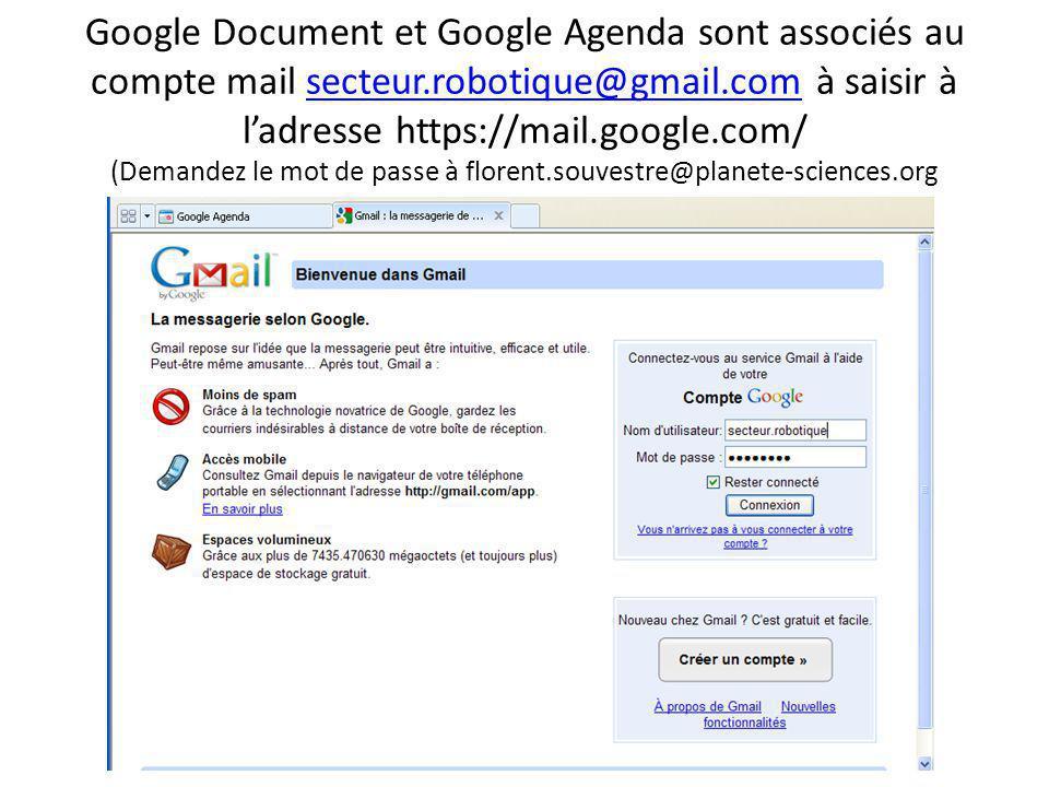 L'outil « Document » Un dossier par commission L'outil « Agenda » Un calendrier par commission et permanent