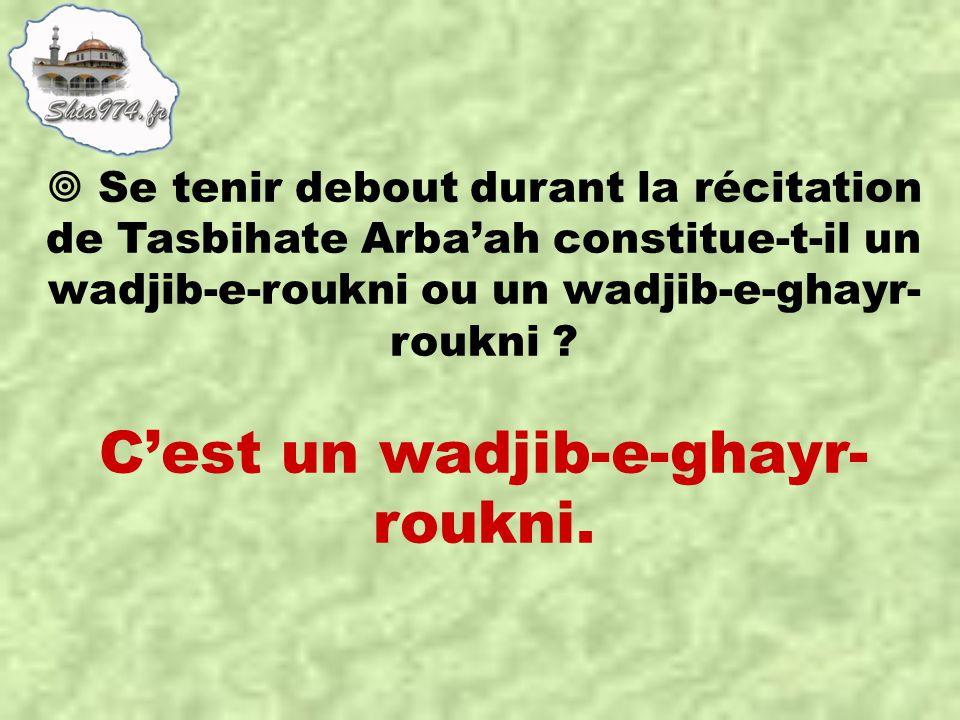 C'est un wadjib-e-ghayr- roukni.