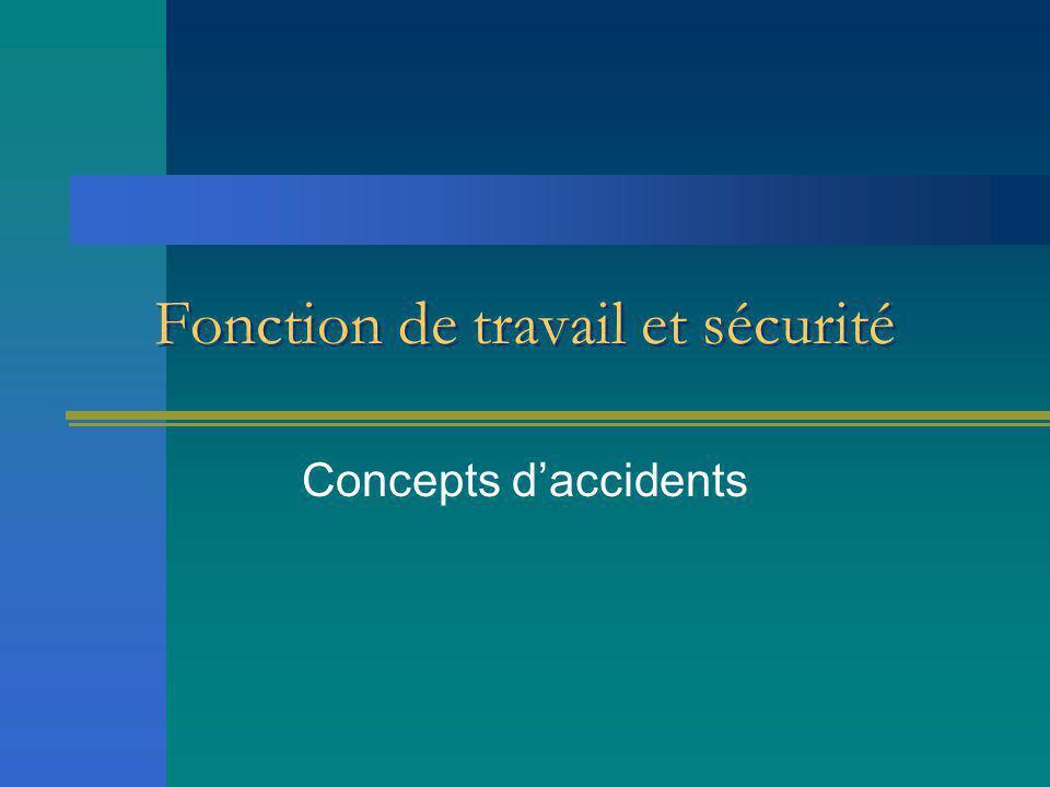 Fonction de travail et sécurité Concepts d'accidents