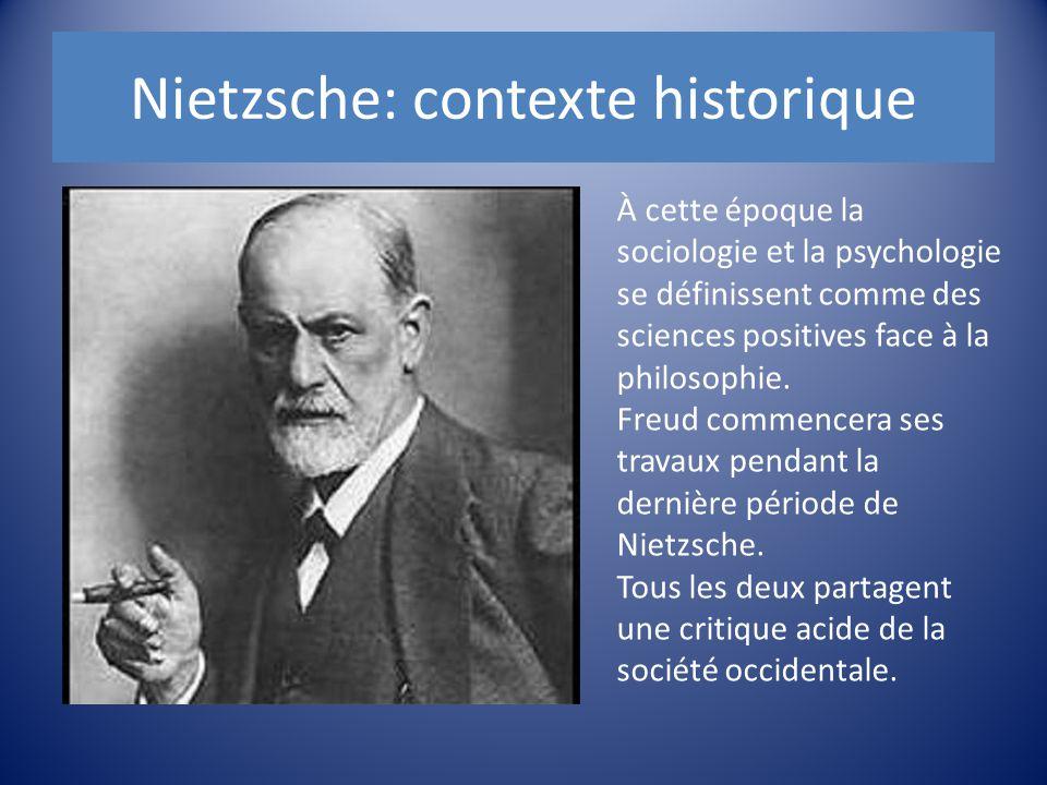 À cette époque la sociologie et la psychologie se définissent comme des sciences positives face à la philosophie. Freud commencera ses travaux pendant