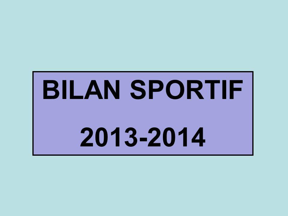 BILAN SPORTIF 2013-2014