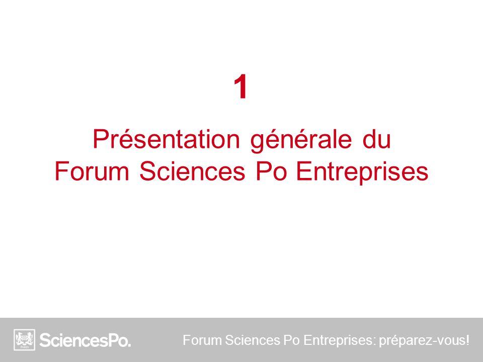 Forum Sciences Po Entreprises: préparez-vous! 1 Présentation générale du Forum Sciences Po Entreprises