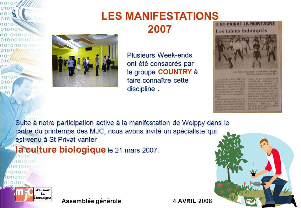 LES MANIFESTATIONS 2007 Plusieurs Week-ends ont été consacrés par le groupe à faire connaître cette discipline. Plusieurs Week-ends ont été consacrés