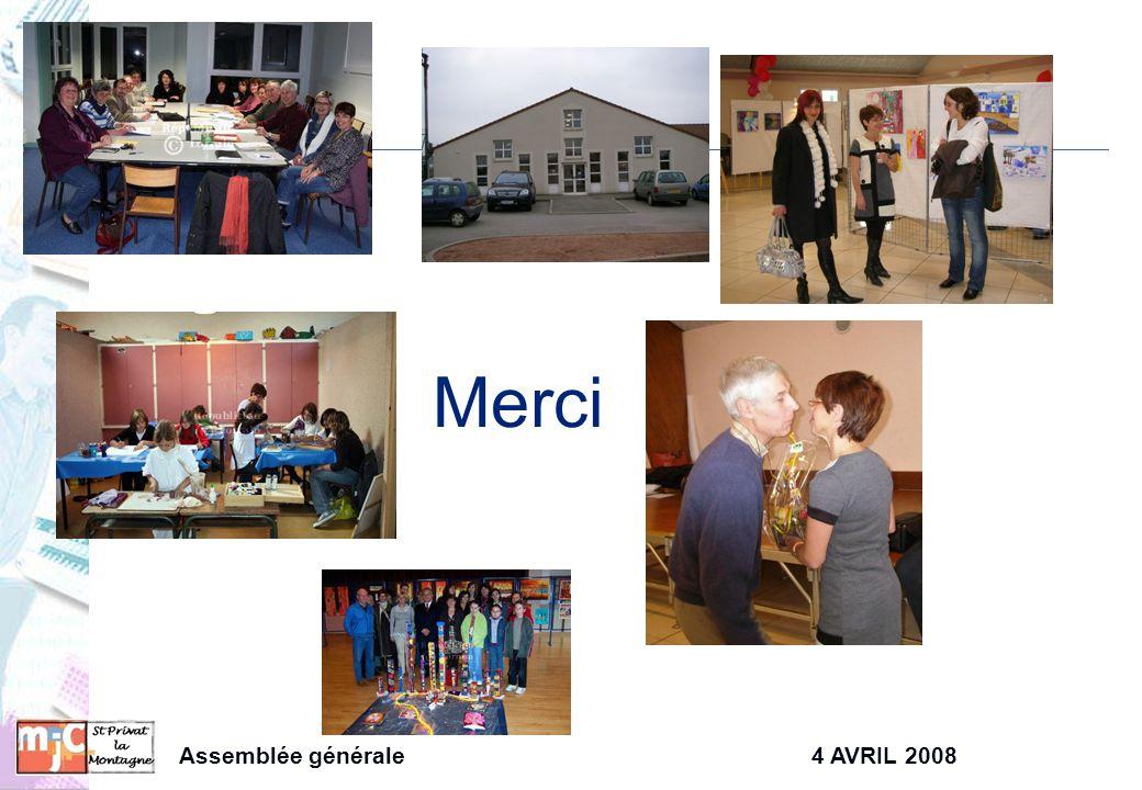 Assemblée générale4 AVRIL 2008 Merci