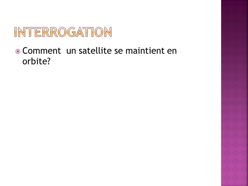  Comment un satellite se maintient en orbite